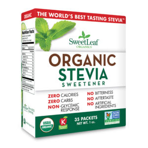 Sweet Leaf Stevia Organic 35 Ct 1oz