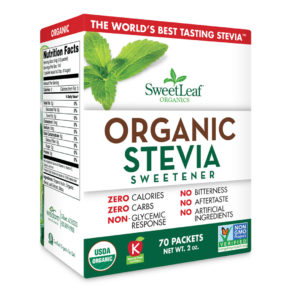 Sweet Leaf Stevia Organic 70 Ct 2oz