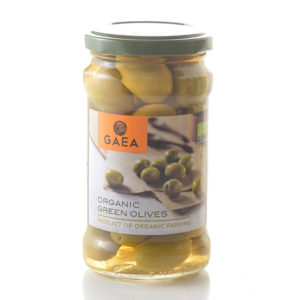 Gaea Olympian Organic Green Olives 300G