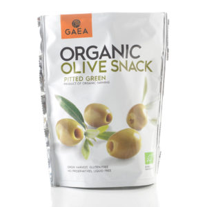 Gaea Organic Pitted Green Olives Snack 65G