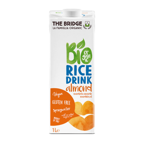 Bio Bridge Organic Gf Rice Drink With Almond 1L