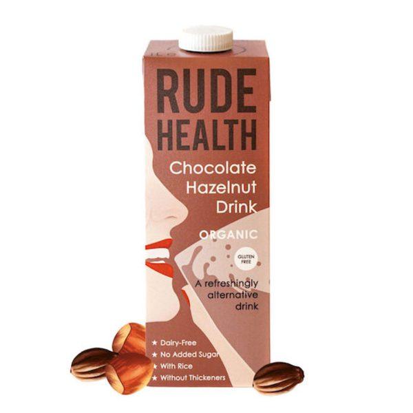 Rude Health Gf Organic Chocolate Hazelnut Drink 1L