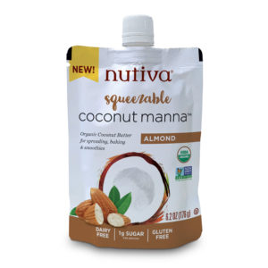 Nutiva Organic Gf Squeezable Coconut Manna With Almond 6.2 Oz