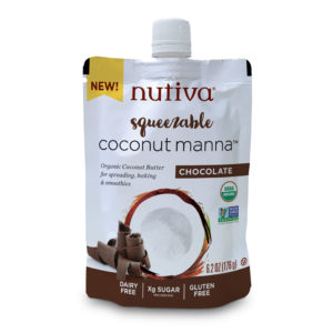 Nutiva Organic Gf Squeezable Coconut Manna With Chocolate 6.2 Oz