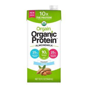 Orgain Organic Almond Milk Vanilla – Unsweetened