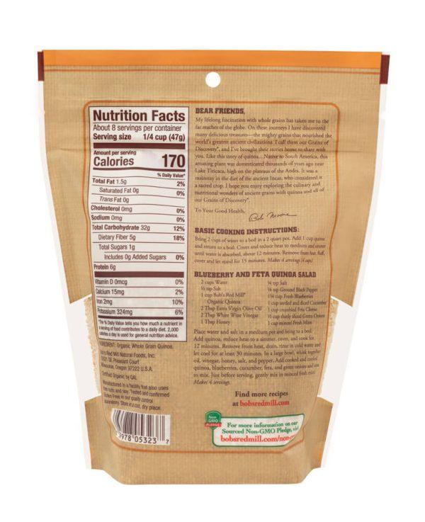 BRM GF Organic White Quinoa Grain 26 OZS