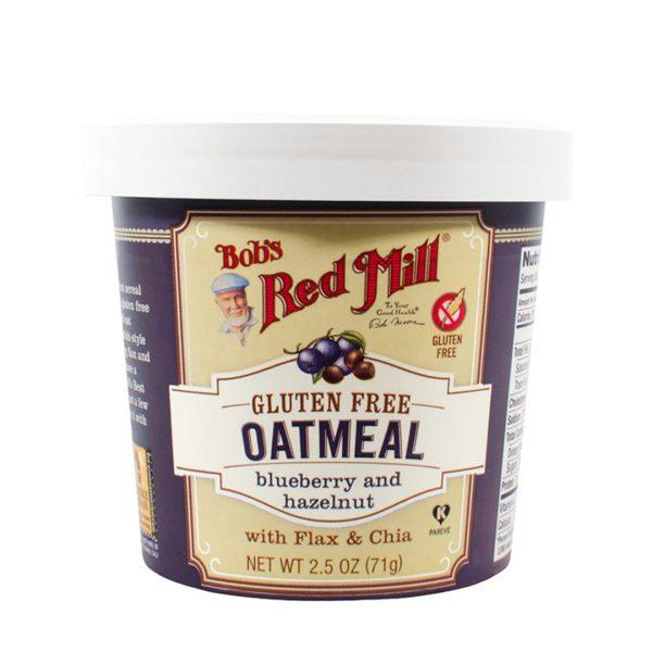 Oatmeal Cup Blueberry Hazelnut Gluten Free