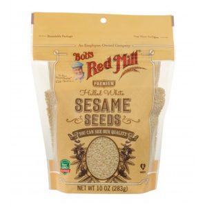 BRM Sesame Seeds White Hulled 10 Oz