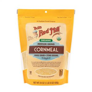 BRM Organic Cornmeal Flour Medium 24 OZS