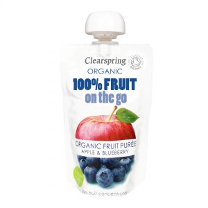 Clear Spring Organic 100% Fruit on the Go – Apple & Blueberry 120g