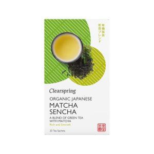 Clear Spring Organic Japanese Matcha Sencha TB Box 20bags 36g