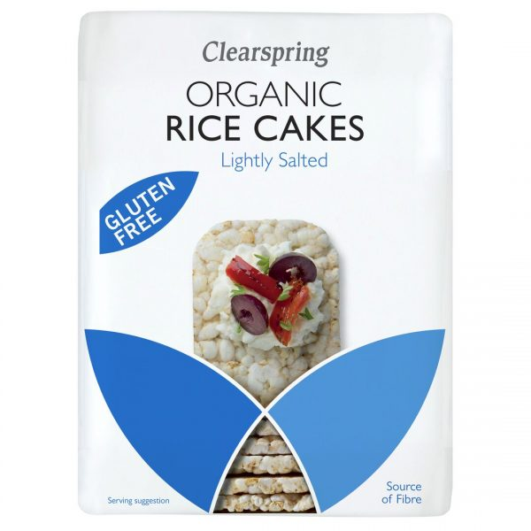 Clear Spring Organic Rice Cakes – Lightly Salted 130g