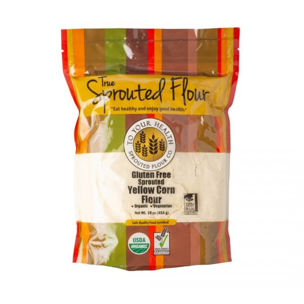 Tyh Organic Gf Sprouted Yellow Corn Flour 16 Oz