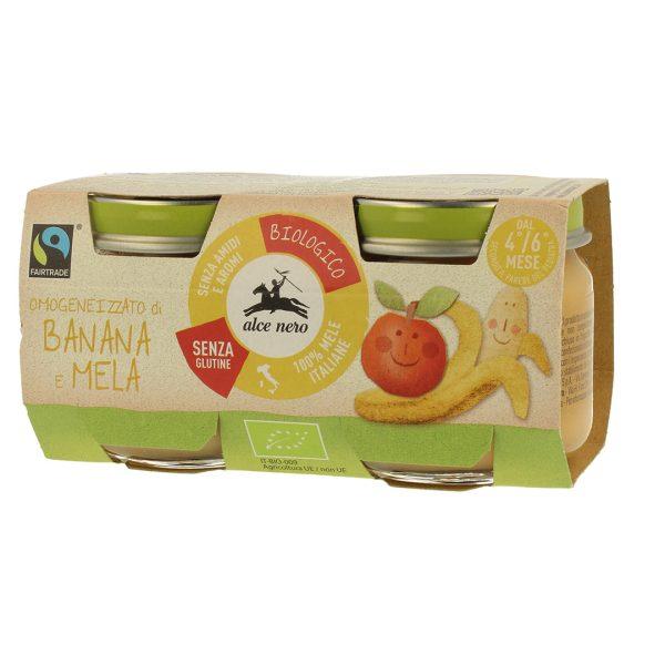 Alce Nero BF160BM Organic Banana and apple puree 160g