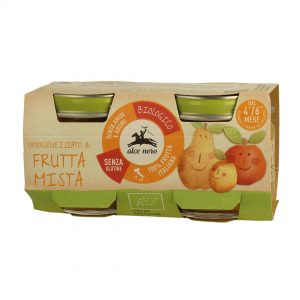 Alce Nero BF160FM Organic Baby food mixed fruits puree 160g
