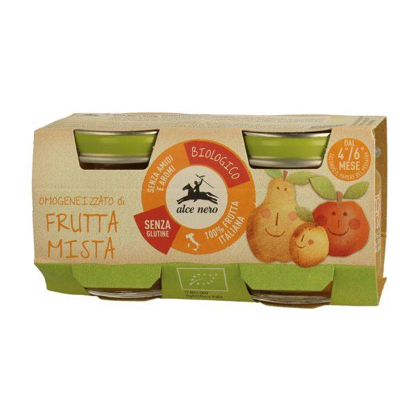 Alce Nero BF160FM Organic Baby food mixed fruits puree 160g