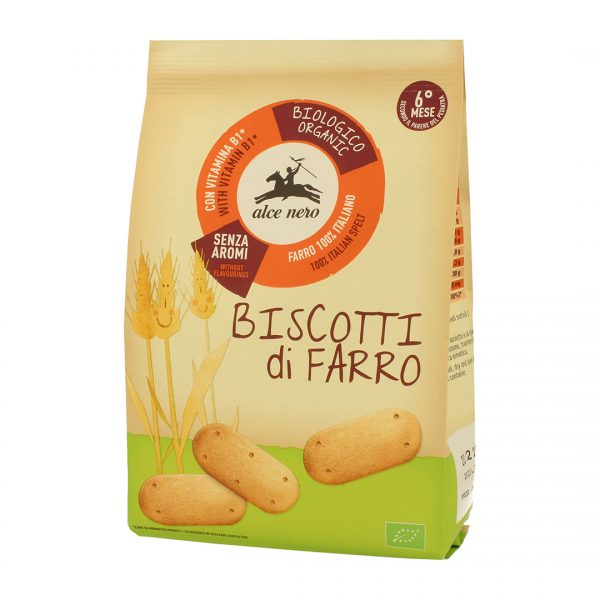 Alce Nero BF250BF Organic Baby food for infant Biscuit Farro 250 g