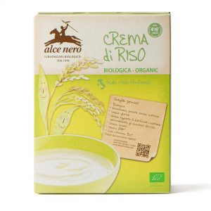 Alce Nero BF250CR Organic GF Baby Food Baldo Rice Cream Porridge 250 g