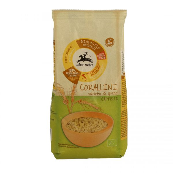 Alce Nero BF500CS Organic Baby Food for infant Corallini Capelli 500 g