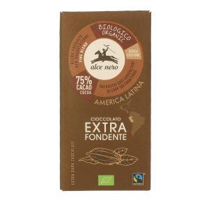 Alce Nero CF100 Organic GF Extra Dark Chocolate 100 g