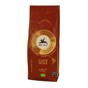 Alce Nero CF250 Organic Fairtrade 100% Arabica coffee Moka 250g