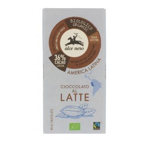 Alce Nero CL100 Organic GF Latte Milk Chocolate 100 g