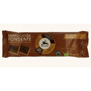 السي بسكوت الحنطة العضوي مع الواح الشوكولاتة الداكنة 140 جرام