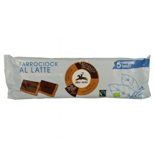 Alce Nero FCL140 Organic Spelt Biscuit with Milk chocolate bar 140 g