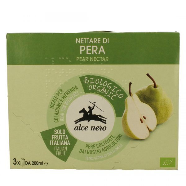 Alce Nero NT815 Organic Pear Nectar Drink 3into 200ml
