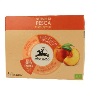 Alce Nero NT819 Organic Peach Nectar Drink 3into 200ml