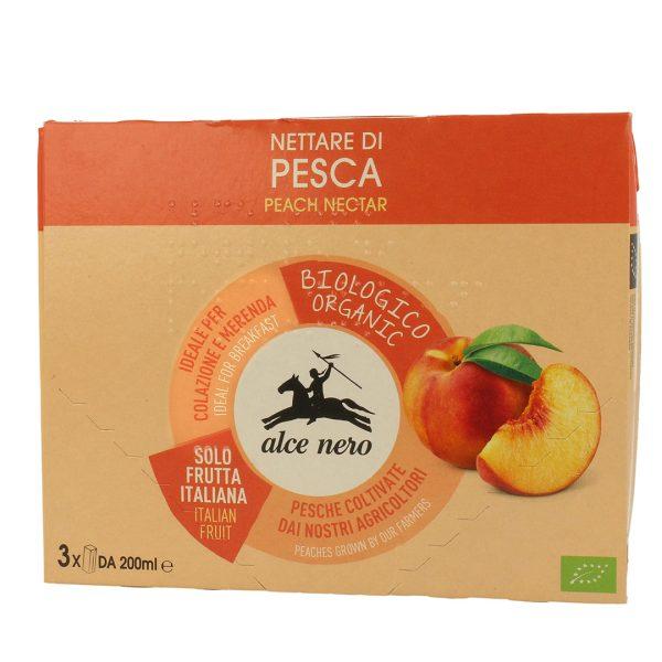 Alce Nero NT819 Organic Peach Nectar Drink 3into 200ml