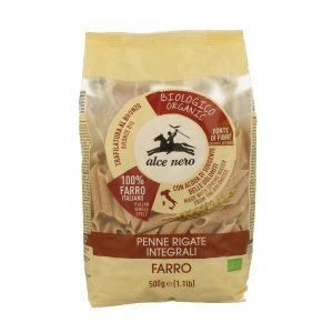 Alce Nero PF694 Organic Penni Rigate Farro Pasta 500g