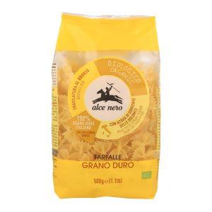 Alce Nero PN864 Organic farfalle Durum wheat Semolina Pasta 500g