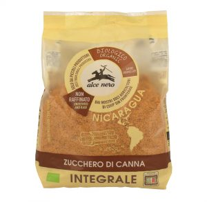 Alce Nero ZU500 Organic Unrefined Raw Whole Brown Cane Sugar 500g