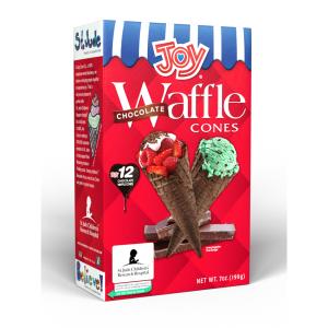 Joy Cone Chocolate Waffle Cone 7 OZ