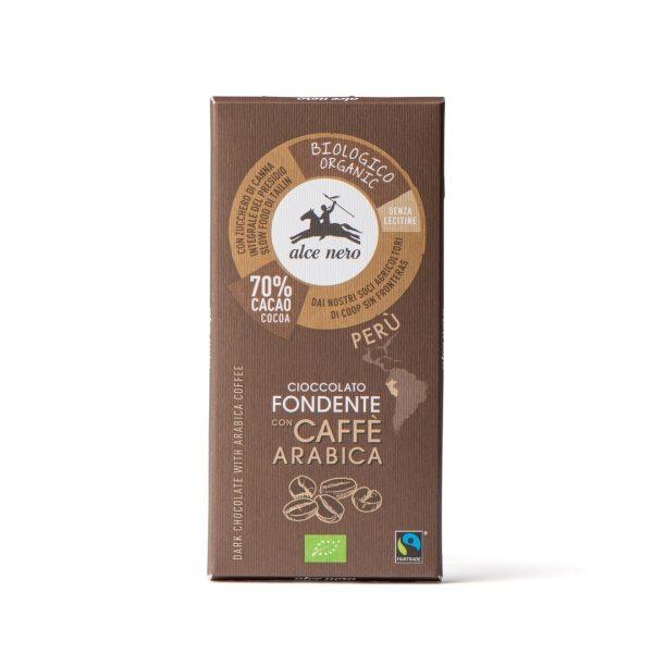 Alce Nero CFC050 Organic dark chocolate with Coffee 50g