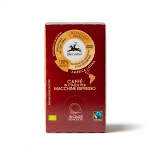 Alce Nero CFCI018 100% organic arabica coffee 18 capsules 125g