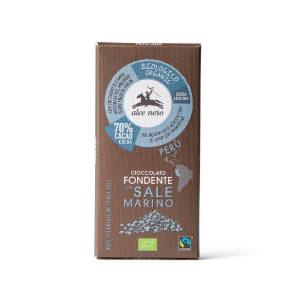 Alce Nero CFS050 Organic dark chocolate with sea salt 50g