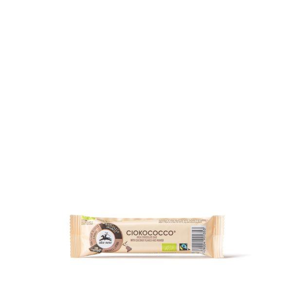 Alce Nero CIOCO033 Organic bar coconut & mango covered with milk chocolate 33g