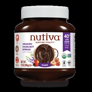Nutiva Organic Hazelnut Spread Dark 13Oz