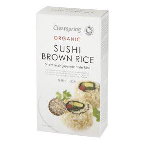 كلير سبرينج أرز سوشي بني عضوي 500 جم