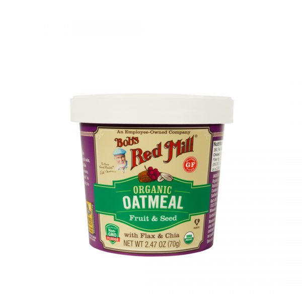 BRM Organic GF Oatmeal Cup Fruit and  Seed 2.47oz